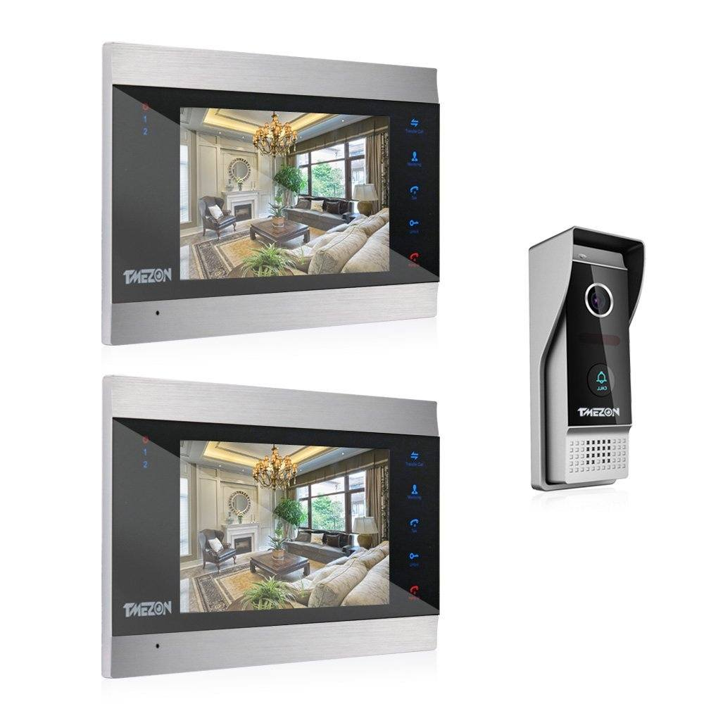 TMEZON 7 Zoll Farb LCD Touch Taste Video T%C3%BCrsprechanlage
