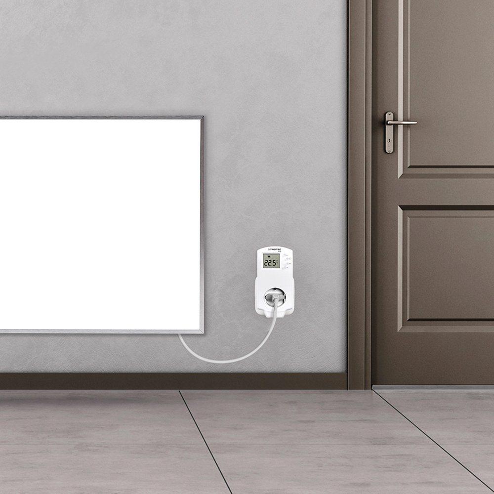 TROTEC TIH 900 S Infrarot-Elektroheizung, Heizstrahler, Infrarot-Technologie, ultraflach,Wandheizung, 900 Watt Thermostat