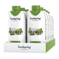foodspring-CocoWhey-mit-Kokosnuss,-12x330ml,-Erfrischender-Protein-Drink-mit-Kokoswasser,-Hergestellt-in-Deutschland-mit-sorgfältig-ausgewählten-Rohstoffen