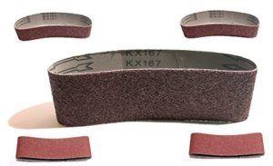 10 Stück, je 2 x Korn 40,60,80,120,180 gemischt Schleifbänder Schleifband Bandschleifer 75x533mm