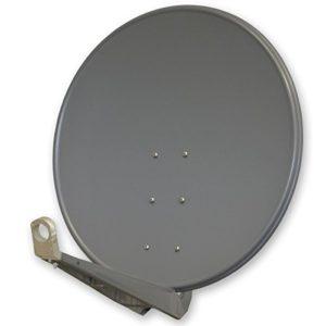 Antenne PremiumX DELUXE100 Aluminium 100cm Digital SAT Schüssel Spiegel in Anthrazit für HDTV HD+ 3D 4K UltraHD