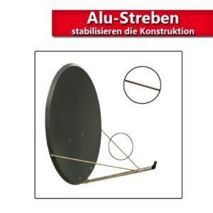 Antenne PremiumX XT 110 cm ALU Digital Sat Schüssel Spiegel in Anthrazit FULLHD HDTV 3D tauglich