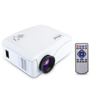 Beamer, ieGeek Mini Beamer LED Full HD 1080P LCD Video Projektor Multimedia Projektor für Heimkino Theater PS4 Xbox One Video-Spiele Laptop, Unterstützt HDMI USB S