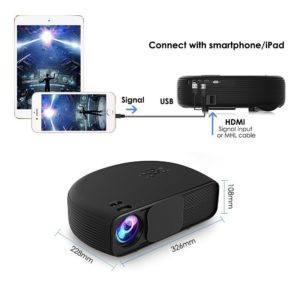 Beamer LCD HD 3500 Lumen joyhero 1280 x 800 full 3D Grand Laptopbildschirm LED Projektor Home Cinema CL760-Noir