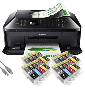 Canon PIXMA MX925 All-in-One SingleInk-Multifunktionsgerät USB-WLAN-LAN-Apple AirPrint (Drucker, Scanner, Kopierer und Fax) + USB Kabel & 20 YouPrint Tintenp