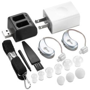 Digitale Hörverstärker – Paar Wiederaufladbarer BTE Persönlicher Hörverstärker mit USB-Ladestation – Erstklassige Hinter dem Ohr Tonverstärku