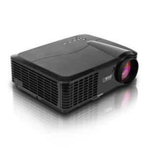 EUG HD Beamer 3400 Lumen LED 4000 1 Kontrast 720p 1080p HD Bilder 100% Neu und Hochewertig mit TV HDMI VGA USB AV Anschlüsse Ideal für Heimkino Einbauen Kino zu Ha
