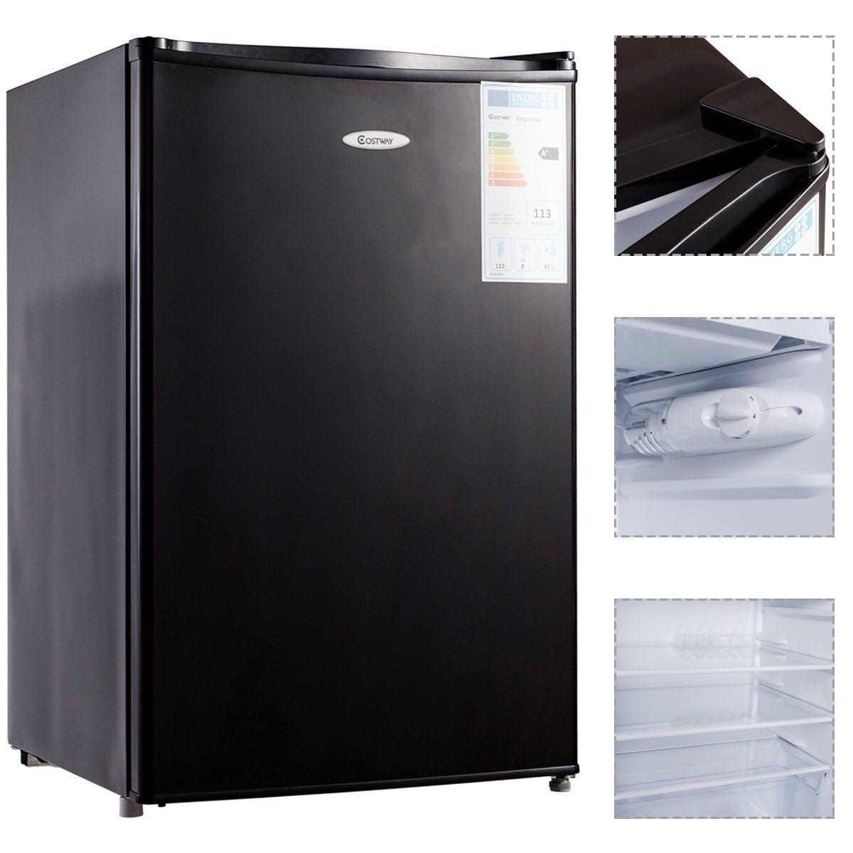 Einbaukühlschrank mit Gefrierfach aus allen Sichten