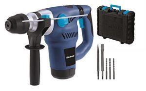 Einhell Bohrhammer BT-RH 1500 (1500 W, 4 J, Bohrleistung 32 mm, SDS-Plus Aufnahme, inkl. Spitz- und Flachmeißel, 3 Bohrer, im Koffer)
