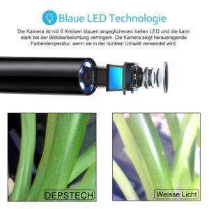 Bildauflösung einer USB Endoskop Kamera im Test