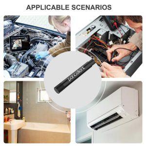Anwendung einer Endoskop Kamera mit Monitor im Test