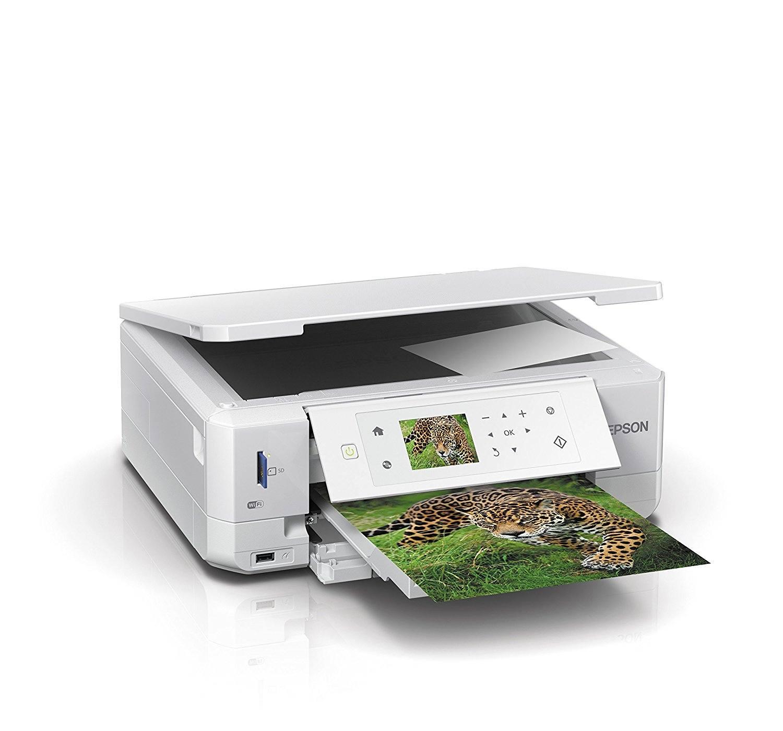 Epson Expression Premium XP-645 3-in-1 Tintenstrahl-Multifunktionsgerät (Drucker, Scanner, Kopierer, WiFi, Duplex, CD-DVD Druck, Einzelpatronen) weiß