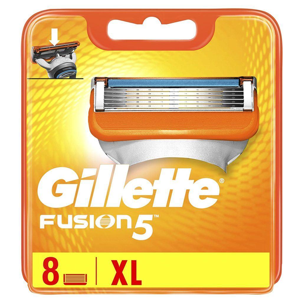 Gillette Fusion5 Rasierklingen in Verpackung
