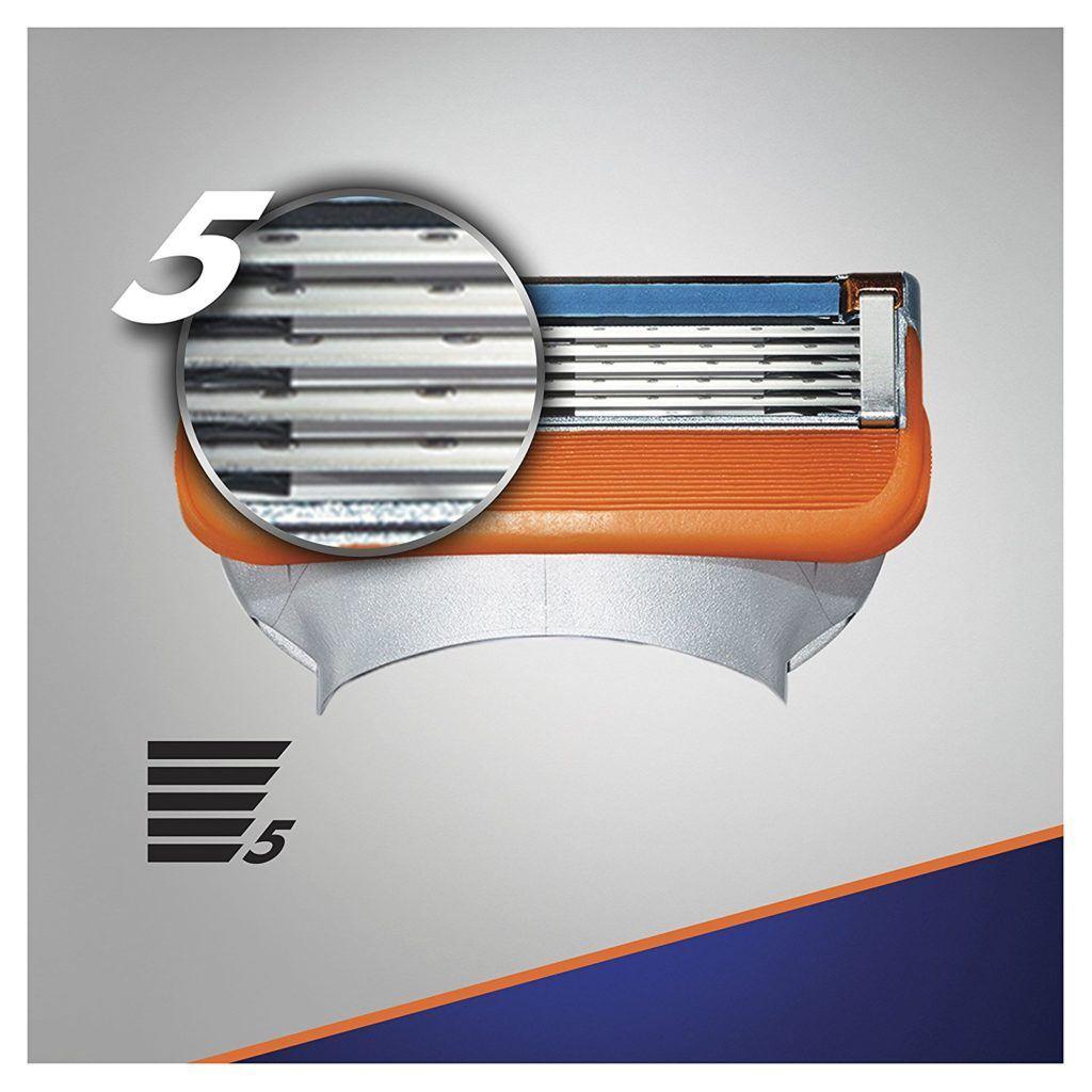 Gillette Fusion5 Rasierklingen Test mit 5 Klingen