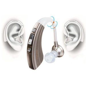 Hörverstärker VHP-220 Klangverstärker Einstellbarer Ton Hörgeräte Hörgeschädigte Hörgeräte - Passend für linke und rechte Ohren