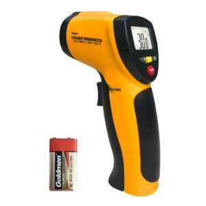 Helect Digitale Laser Infrarot Thermometer Pyrometer (-50°C bis 550°C) mit LCD Beleuchtung