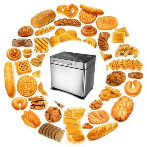 Hopekings Brotbackautomat, Edelstahl Brotbackmaschine, Vollautomatische Brotbackmaschine 19 Backprogramme Warmhalte-&Knetfunktion Timer, 15-stündiger Verzögerungstimer