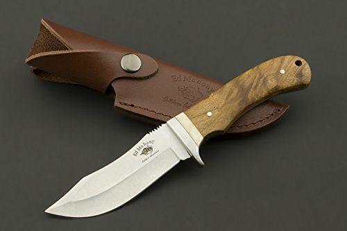 Jagdmesser mit Holzgriff und Lederetui im Test