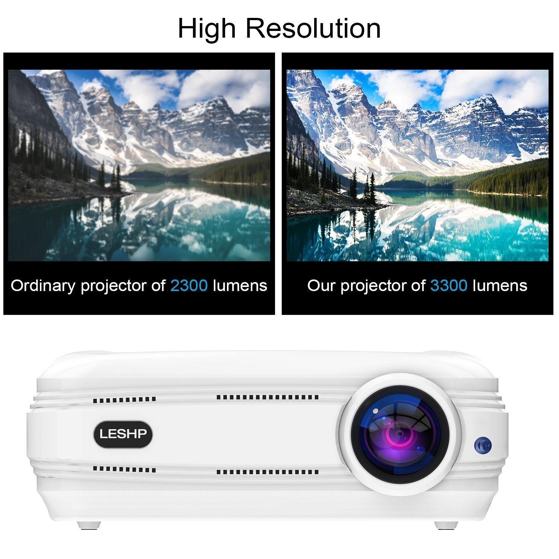LESHP 1080P HD LCD Beamer Test