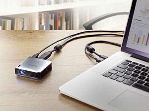 Philips Pico Pix 4010 LED-Projektor (HDMI, Kontrast 1.500-1, 854x480 Pixel, 100 ANSI Lumen, HDMI, USB) silber