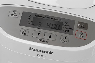 Der Panasonic Brotbackautomat SD-2511 mit Display im Test
