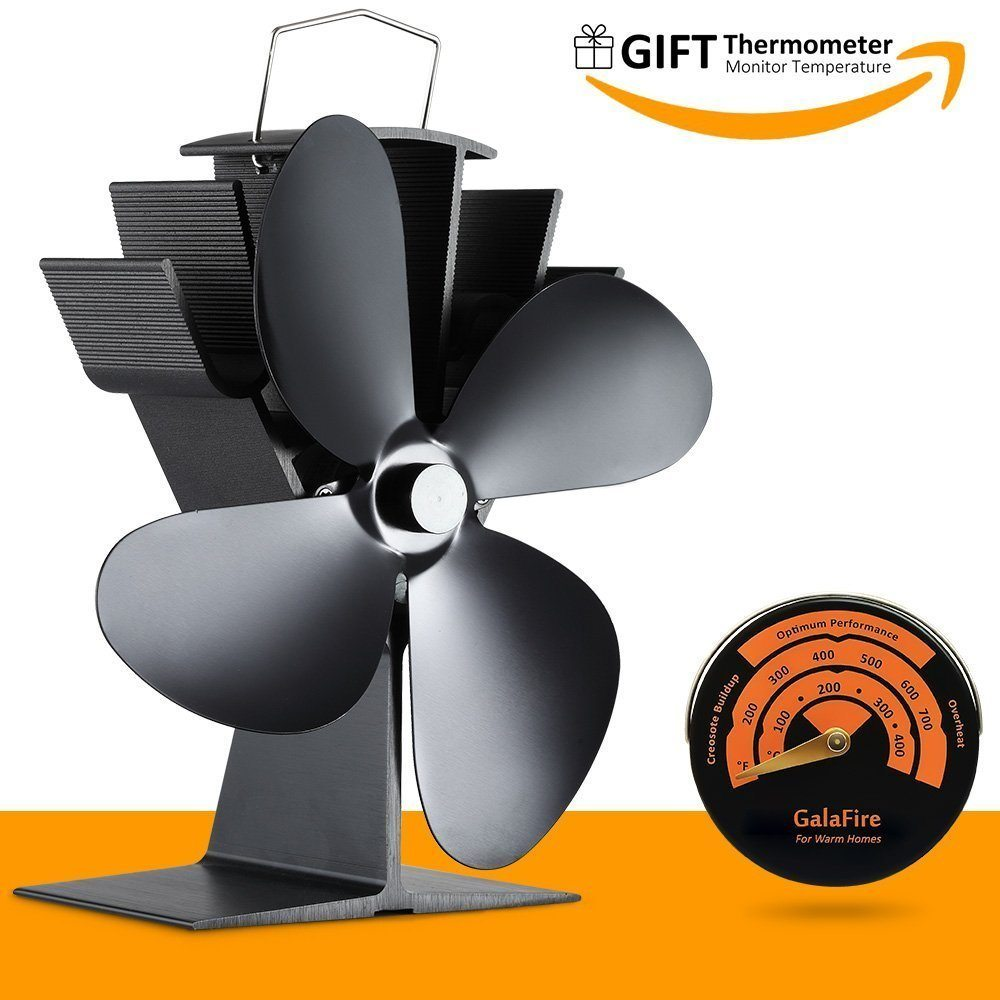 Power Free Fan For Fireplace Wood Ovens Fuel Cost Saving 1