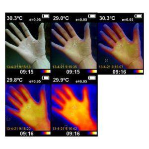 Sunray Wärmebild-IR-Pyrometer Kamera Wärmebildkamera Messgenauigkeit Temperatur Thermodetektor mit Batterien