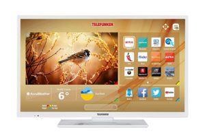 Telefunken XF32D401-W 81 cm (32 Zoll) Fernseher (Full HD, Smart TV, Triple Tuner), Weiß [Energieklasse A+]