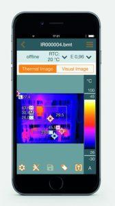 Testo Wärmebildkamera 872 - Smarte Thermografie mit höchster Bildqualität, 1 Stück, 0560 8721 app