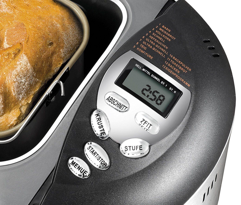 UNOLD Brotbackautomat Backmeister Onyx, 600 W, 1kg Brotgewicht, Keramik-Beschichtung, 8695 im test