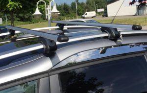 VDP-CA480 Dachbox 480 Liter Carbon Look abschließbar + Alu Relingträger VDP L120 für BMW 3er Touring (Kombi) E91 05-'12 bis 90kg Schloss