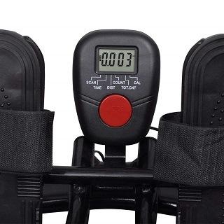 Das LCD Display liefert alle relevanten Informationen zu Geschwindigkeit, Trainingszeit, zurückgelegter Entfernung und verbrannten Kalorienen Test