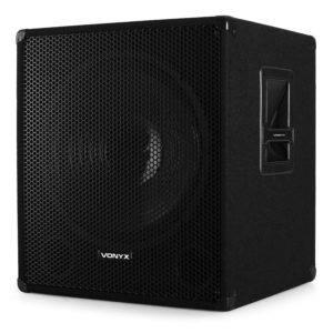 Vonyx 46cm Aktiv Disco Subwoofer 1000W Lautsprecher Box