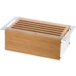 WMF Brotkasten, Gourmet Brotdose Brotbox mit abnehmbarem Schneidbrett, 43 x 25 cm