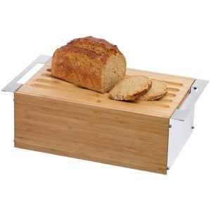 WMF Brotkasten, Gourmet Brotdose Brotbox mit abnehmbarem Schneidbrett, 43 x 25 cm test