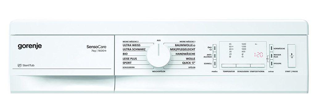 Gorenje Display und Programme Waschmaschine Frontlader Test