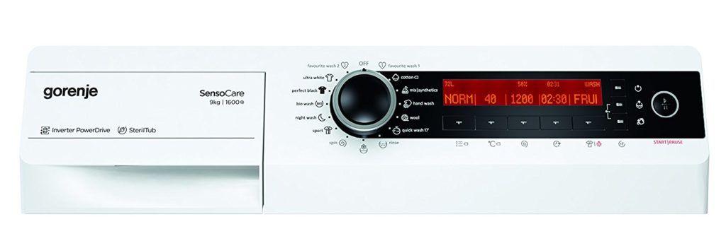 Gorenje Display und Programme im Waschmaschine Frontlader Test