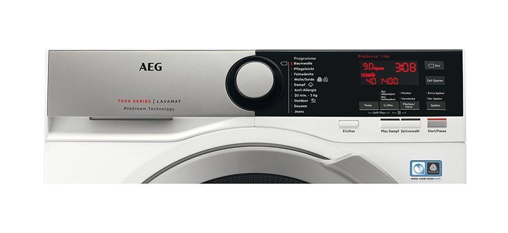 AEG Display und Programme im Waschmaschine Frontlader Test