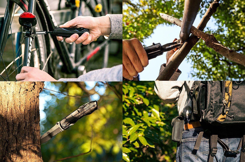 ZIMZIM Multi Tool Taschenmesser 5 In 1 Multi Tool Zangen Sets Taschenmesser Multifunktions Taschenwerkzeug