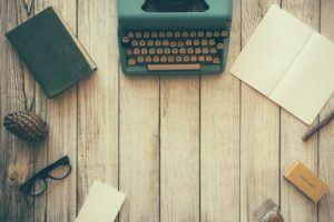 alte Schreibmaschine im convertible notebook test