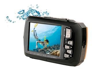 Display von Aquapix W1400 Unterwasserkamera im Test