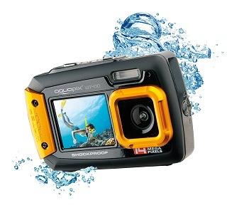 Frontseite von Aquapix W1400 Unterwasserkamera im Test