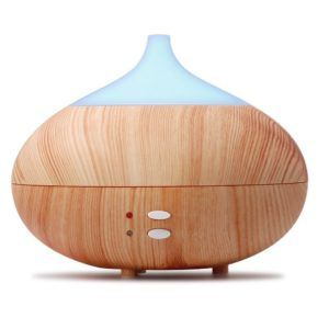Aroma Diffuser Holz 300ml Elektrische Duftlampe