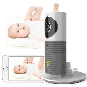 Cadrim Mini Kamera 720P IP Funk Überwachungskamera Wlan mit Babypflege Monitor