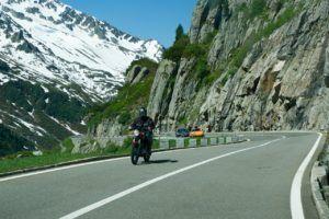 E-roller Test: Auf der Landstrasse fahren