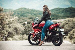 E-Roller Test: Frau kann auch fahren