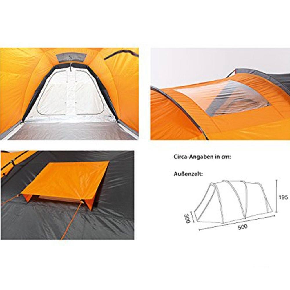 Familienzelt Test - Lüftung und Fenster im Zelt