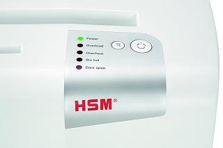 Bedienelemente des HSM shredstar X15 Aktenvernichter im Test