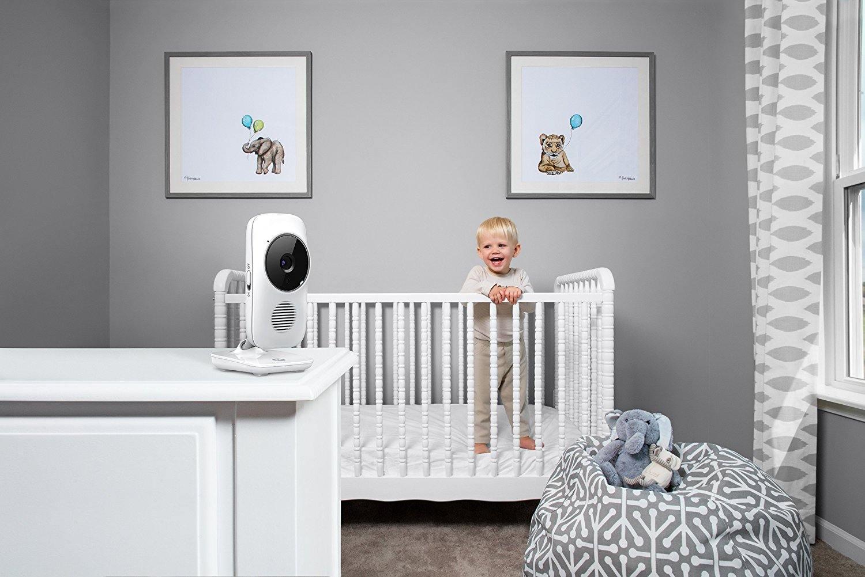 Motorola MBP 667 Connect WLAN Video Babyphone Baby-Überwachungskamera mit Farbdisplay 300 Meter Reichweite