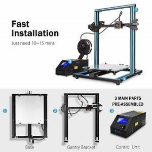 Der CR-10S 3D-Drucker ist von hoher Qualität Test